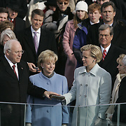 Vice President Cheney receives the oath of office, at the US Capitol in Washington, Jan. 20, 2005. ..Photo by Khue Bui