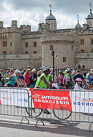 Riders pass the Tower of London as part of the Freecycle event on Saturday 9th August .<br /> Prudential RideLondon, the world's greatest festival of cycling, involving 70,000+ cyclists – from Olympic champions to a free family fun ride - riding in five events over closed roads in London and Surrey over the weekend of 9th and 10th August. <br /> <br /> Photo: David Ashdown for Prudential RideLondon<br /> <br /> See www.PrudentialRideLondon.co.uk for more.<br /> <br /> For further information: Penny Dain 07799 170433<br /> pennyd@ridelondon.co.uk <br /> Saturday 9th August 2014