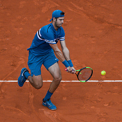 Karen Khachanov of Russia during Day 6 of the French Open 2018 on June 1, 2018 in Paris, France. (Photo by Baptiste Fernandez/Icon Sport)