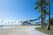 Everyone is gone during the tsunami warning in Waikiki.