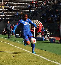 SuperSport United Thuso Phala chasing the ball, during Absa Premiership match at Lucas Moripe Stadium.