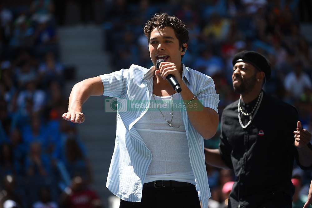 Singer Austin Mahonne during Kid's day at the 2019 US Open at Billie Jean National Tennis Center in New York City, NY, USA, on August 24, 2019. Photo by Corinne Dubreuil/ABACAPRESS.COM