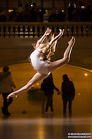 Dance As Art The New York City Photography Project Grand Central Terminal Series with dancer Chloe Schwartz