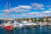 Yachts and sailboats in Zadar Harbor, Dalmatian Coast, Croatia