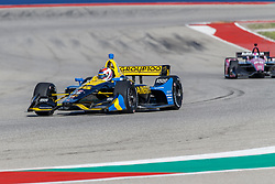 February 12, 2019 - U.S. - AUSTIN, TX - FEBRUARY 12: Zach Veach (26) in a Honda powered Dallara IR-12 at turn 13 during the IndyCar Spring Training held February 11-13, 2019 at Circuit of the Americas in Austin, TX. (Photo by Allan Hamilton/Icon Sportswire) (Credit Image: © Allan Hamilton/Icon SMI via ZUMA Press)