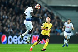 February 13, 2019 - London, England, United Kingdom - Tottenham defender Davinson Sanchez clears from Borussia Dortmund midfielder Mario Gotze during the UEFA Champions League match between Tottenham Hotspur and Ballspielverein Borussia 09 e.V. Dortmund at Wembley Stadium, London on Wednesday 13th February 2019. (Credit: Jon Bromley | MI News & Sport Ltd) (Credit Image: © Mi News/NurPhoto via ZUMA Press)