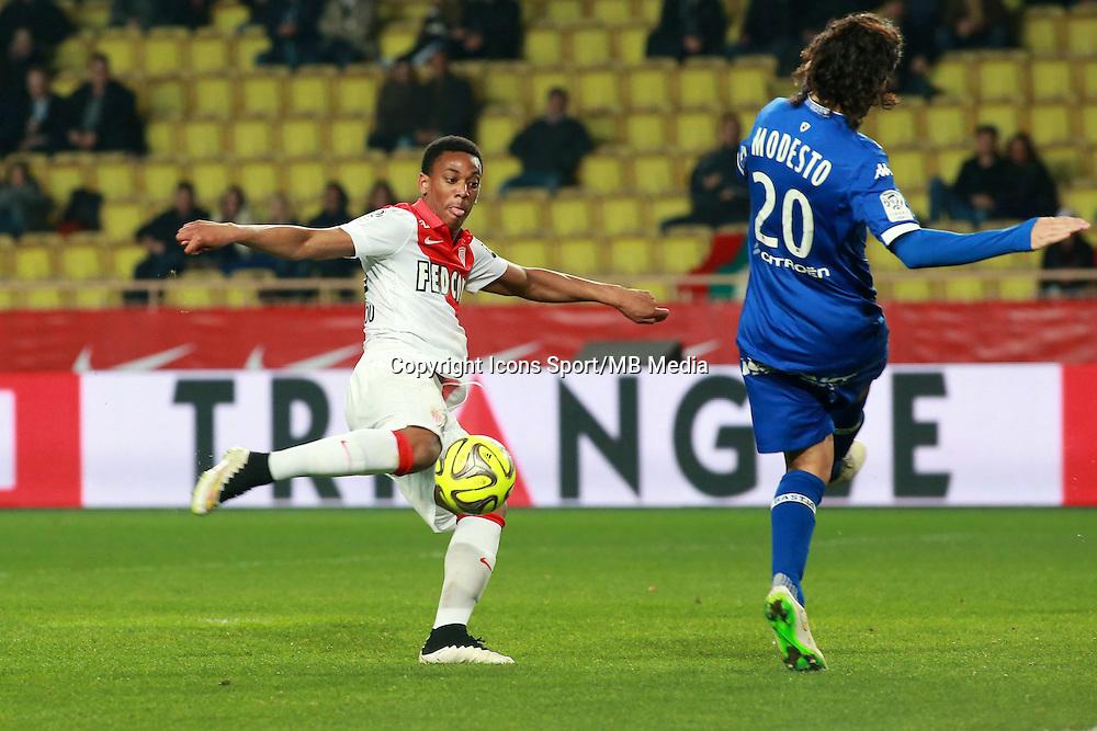 MARTIAL Anthony - 13.03.2015 -   Monaco / Bastia -  29eme journee de Ligue 1 <br />Photo : Serge Haouzi / Icon Sport