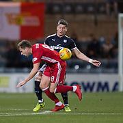 8th December 2017, Dens Park, Dundee, Scotland; Scottish Premier League football, Dundee versus Aberdeen; Dundee's Josh Meekings battles for the ball with Aberdeen's Greg Stewart