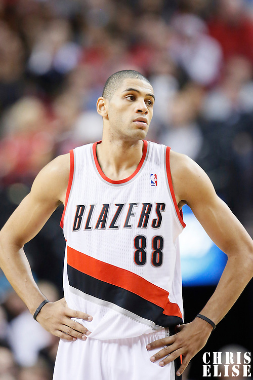 06 December 2013: Portland Trail Blazers small forward Nicolas Batum (88) is seen during the Portland Trail Blazers 130-98 victory over the Utah Jazz at the Moda Center, Portland, Oregon, USA.