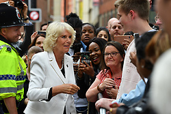 June 26, 2017 - Manchester, Greater Manchester, United Kingdom - Image ©Licensed to i-Images Picture Agency. 26/06/2017. Manchester, United Kingdom. Royal Visit to Manchester Town Hall. The Prince of Wales and Duchess of Cornwall visit Manchester Town Hall and attend a roundtable discussion with community leaders and young people about the impact of the recent terror attack on their communities and how Manchester united in the immediate aftermath. The Prince of Wales and The Duchess of Cornwall will also attend a reception in..the Town Hall to thank those involved in helping the public, including medical staff from all eight hospitals involved in the emergency response on the 22nd May. Manchester Town Hall. Picture by Anthony Devlin / i-Images (Credit Image: © Anthony Devlin/i-Images via ZUMA Press)
