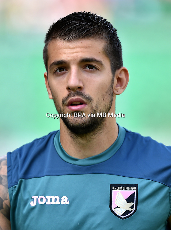 Italian League Serie A -2015-2016 / <br /> ( Us Citta Di Palermo ) - <br /> Aleksandar Trajkovski