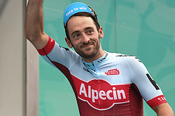October 14, 2018 - Istanbul, Turkey - Nathan Haas of Australia and Katusha-Alpecin Team takes the third place the general classification of the 54th Presidential Cycling Tour of Turkey 2018. .On Sunday, October 14, 2018, in Istanbul, Turkey. (Credit Image: © Artur Widak/NurPhoto via ZUMA Press)