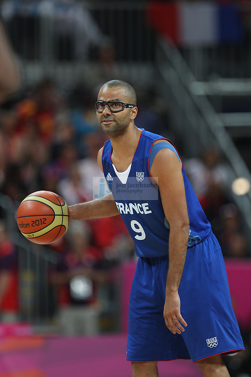 Tony Parker of France in action against the USA during Day 2 of the London Olympic Games in London, England, United Kingdom on 29 Jul 2012..(Jed Jacobsohn/for The New York Times)....