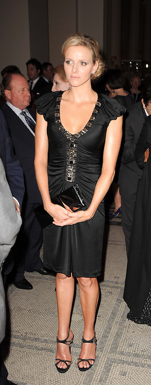 CHARLENE WITTSTOCK at the opening of the Victoria & Albert Museum's latest exhibition 'Grace Kelly: Style Icon' opened by His Serene Highness Prince Albert of Monaco at the V&A on 15th April 2010.