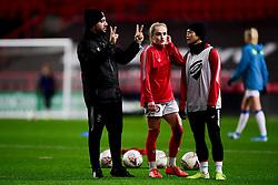 Marco Chiavetta and Jeon Ga-Eul prior to kick off - Mandatory by-line: Ryan Hiscott/JMP - 17/02/2020 - FOOTBALL - Ashton Gate Stadium - Bristol, England - Bristol City Women v Everton Women - Women's FA Cup fifth round