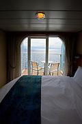 Fort Lauderdale, Florida, USA, 20091126:   Royal Caribbean Cruise Line launch their new flagship, the Oasis of the Seas. Utsikt fra lugaren.Photo: Orjan F. Ellingvag/ Dagbladet/ Corbis