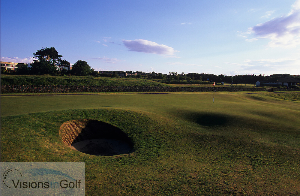 The 17th hole (Road hole) with the famous bunker in the foreground, ST. ANDREWS OLD GC, Scotland, UK / PHOTO Visions In Golf/Eric Hepworth