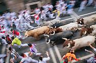 Pamplona Spain Running of the Bulls San Fermin festival
