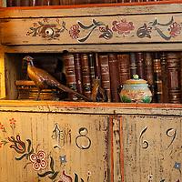 Rustic Cabin: Primitive painted hutch