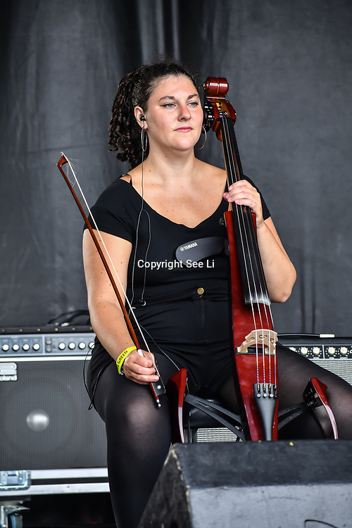 London, UK. 21th July, 2019. Josephine & The Artizans perfroms at the Lambeth Country Show 2019 a family festival with live music food & drinks, Arts and Culture and animal show at Brockwell Park, London.