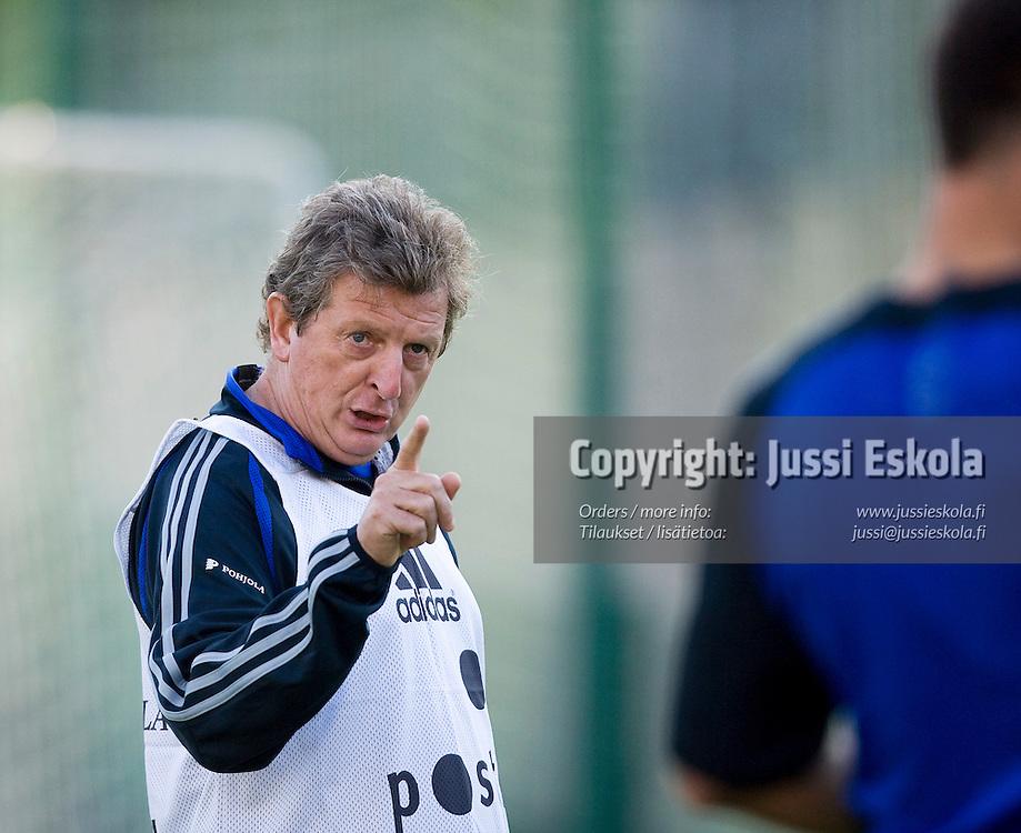 Roy Hodgson. A-maajoukkueen harjoitukset, Helsinki 19.8.2007. Photo: Jussi Eskola