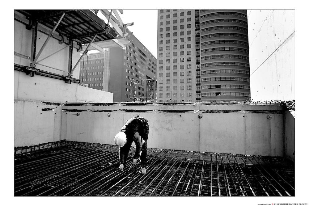 ROTTERDAM, the NETHERLANDS - 15/02/2008 - CORPORATE, Construction of the MAASTOREN..© Christophe VANDER EECKEN