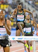 Emmanuel Kiprono (KEN) places third in the steeplechase in 8:16.07 in the 2018 IAAF Doha Diamond League meeting at Suhaim Bin Hamad Stadium in Doha, Qatar, Friday, May 4, 2018. (Jiro Mochizuki/Image of Sport)