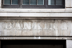 Faded signage on a closed bank in the City of London. Several financial institutions rumoured to be planning a move to Frankfurt after the UK's decision to leave the European Union.  Picture date: Friday November 18th, 2016. Photo credit should read: Matt Crossick/EMPICS Entertainment
