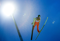 Mario Innauer competes during First round of the FIS Ski Jumping World Cup event of the 58th Four Hills ski jumping tournament, on January 6, 2010 in Bischofshofen, Austria. (Photo by Vid Ponikvar / Sportida)