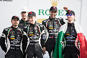 January 24-28, 2018. IMSA Weathertech Series ROLEX Daytona 24. 11 GRT Grasser Racing Team, Lamborghini Huracan GT3 driven by Rolf Ineichen, Mirko Bortolotti, Franck Perera, Rik Breukers wins the GTD class of the Daytona 24 hour.
