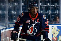 KELOWNA, BC - FEBRUARY 23: Jermaine Loewen #32 of the Kamloops Blazers warms up against the Kelowna Rockets at Prospera Place on February 23, 2019 in Kelowna, Canada. (Photo by Marissa Baecker/Getty Images)