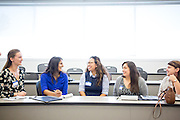 Hannah Chapman, Elisha Gupta, Lia Larasati, Brianna Ayala, Bethany Quitral during the first event of the Mihaylo College of Business and Economics Women's Leadership Program at California State University Fullerton  on Friday, Nov. 6, 2015 in Fullerton, California.