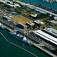 Aerial view of the San Francisco and Oakland California Aerial view of Coast Guard Station