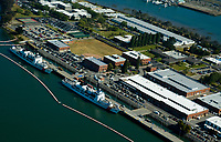 Aerial view of Coast Guard Station, Alameda