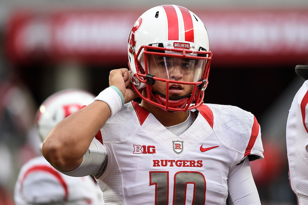 The Rutgers Scarlet Knights take on the Ohio State Buckeyes at Ohio Stadium in Columbus, Ohio on October 18, 2014.