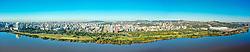 Foto panorâmica do terceiro trecho da Orla Moacyr Scliar entre a Av. Ipiranga e o S.C.Internacional. Foto: Jefferson Bernardes/. FOTO: Jefferson Bernardes/ Agência Preview