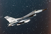 F-16A, Florida Guard, over Gulf
