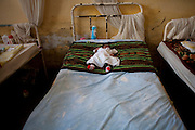 Likasi, DRC, March 2009. A new-born baby at a clinic in the town of Likasi. The Kikula Health Center, located at the heart of a crowded neighborhood of Likasi, it is one of four facilities providing services to the district's 124,000 people.