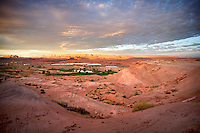 Morning view over the desert and golf course near Page Arizona. In the back is visible Lake Powell and Glen Canyon..Photo by: Ronald de Hommel / Johannes Abeling