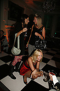 Marina Hanbury, Olivia Buckingham and Lady Sophia Hesketh, Biba after-show party organised by Quinessentially.  Royal Duchess Palace, 16 Mansfield Street, London W1. 19 September 2006.  ONE TIME USE ONLY - DO NOT ARCHIVE  © Copyright Photograph by Dafydd Jones 66 Stockwell Park Rd. London SW9 0DA Tel 020 7733 0108 www.dafjones.com