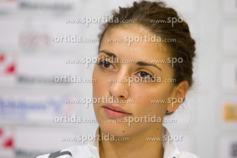 Player Andrea Penezic during press conference of handball team RK Krim Mercator before new season 2010-2011, on September 29, 2010 in M-Hotel, Ljubljana, Slovenia. (Photo By Vid Ponikvar / Sportida.com)