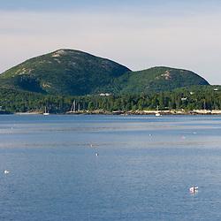 Bar Harbor Maine as seen from Sheep Porcupine Island USA