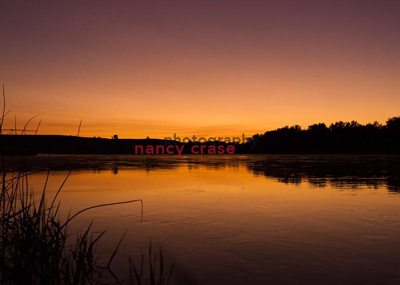 Dawn at Coal Banks on the Missouri River .