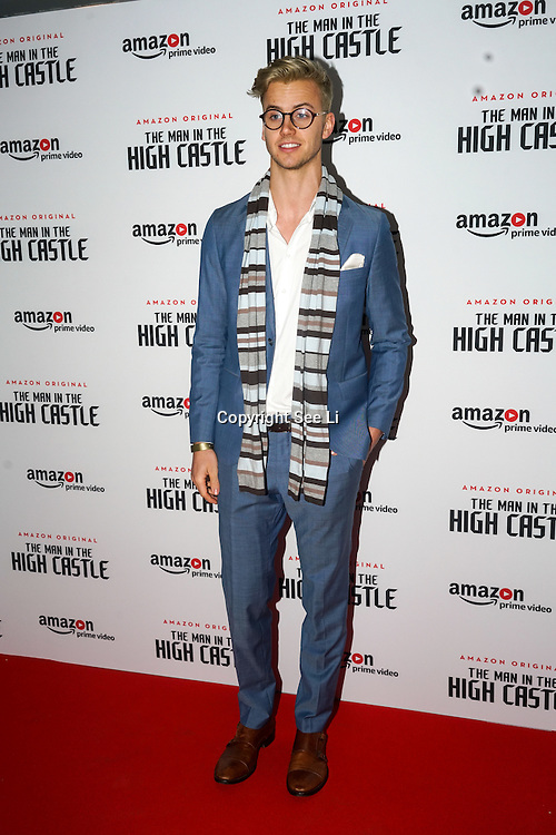 rupert evans attend the european premiere of season 2 of the man in the high castle