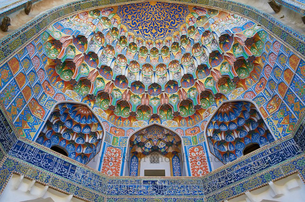 Ouzbekistan, Boukhara, patrimoine mondial de l Unesco, Medersa Abdul Aziz Khan // Uzbekistan, Bukhara, Unesco world heritage, Abdul Aziz Khan Madarsah