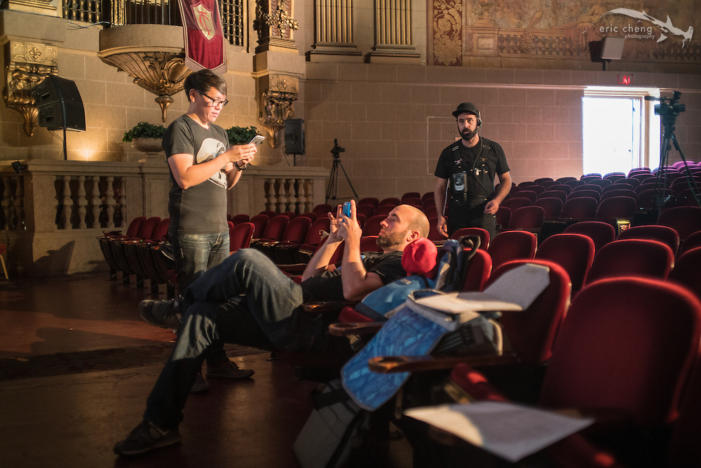 Norman Chan and Frank Ippolito. Tested.com live show, Oct 23, 2015, Castro Theater, San Francisco.
