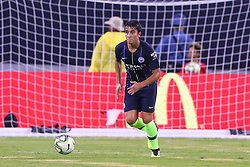 July 25, 2018 - East Rutherford, NJ, U.S. - EAST RUTHERFORD, NJ - JULY 25:  Manchester City defender Eric Garcia (50) during the first half of the International Champions Cup Soccer game between Liverpool and Manchester City on July 25, 2018 at Met Life Stadium in East Rutherford, NJ.  (Photo by Rich Graessle/Icon Sportswire) (Credit Image: © Rich Graessle/Icon SMI via ZUMA Press)