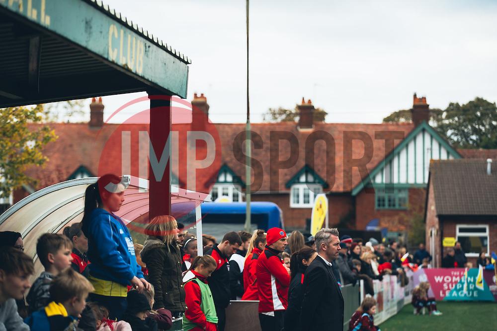 Bristol City Women Manager Willie Kirk looks on - Rogan Thomson/JMP - 06/11/2016 - FOOTBALL - The Northcourt Stadium - Abingdon-on-Thames, England - Oxford United Women v Bristol City Women - FA Women's Super League 2.