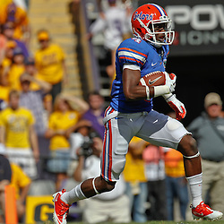 October 8, 2011; Baton Rouge, LA, USA;  Florida Gators wide receiver Andre Debose (4) during the first quarter against the LSU Tigers at Tiger Stadium.  Mandatory Credit: Derick E. Hingle-US PRESSWIRE / © Derick E. Hingle 2011