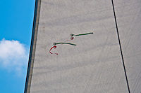 Long Island, New York. Great South Bay - sails on a sailboat.